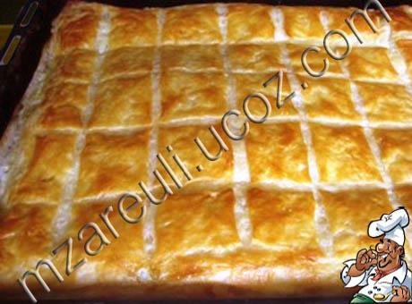 Хачапури сыром рецепт слоеное тесто фото